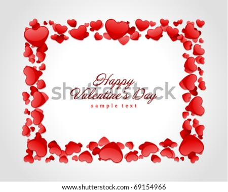 Valentine's day card with hearts vector background