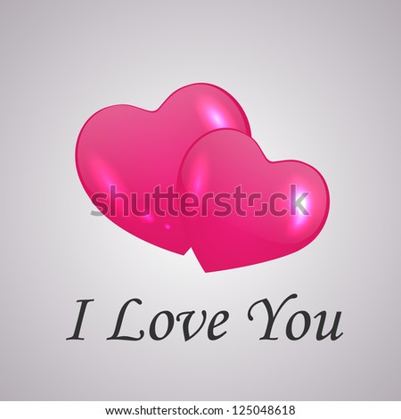Valentine's Day card with hearts. Vector illustration.