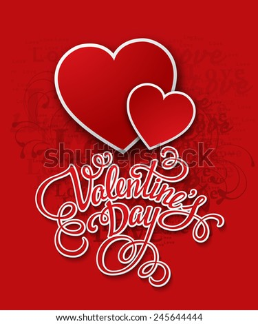 Valentine's Day cards. Vector illustration