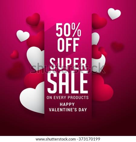 Valentines Day Celebration Poster Banner Design Stock Vector ...
