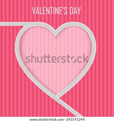 Valentine's day concept vector artwork  - stock vector
