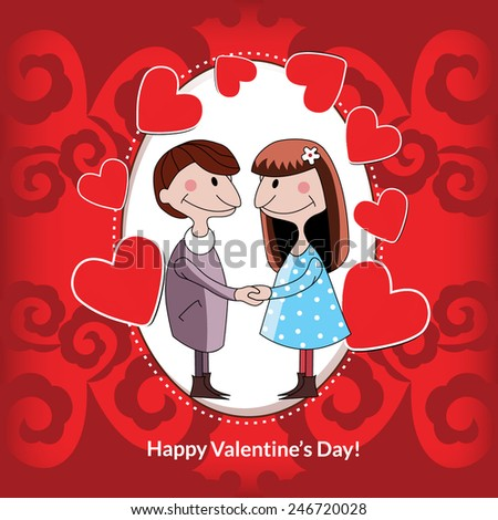 Valentine's day. Elements for cards, gifts, crafts, invitation. Vector illustration.