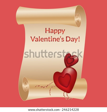 Valentine's day. Elements for cards, gifts, diplomas, crafts, invitations. Vector illustration. - stock vector