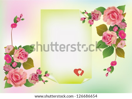Valentine's Day flowers - stock vector