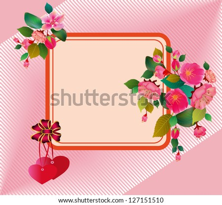 Valentine's Day flowers . - stock vector