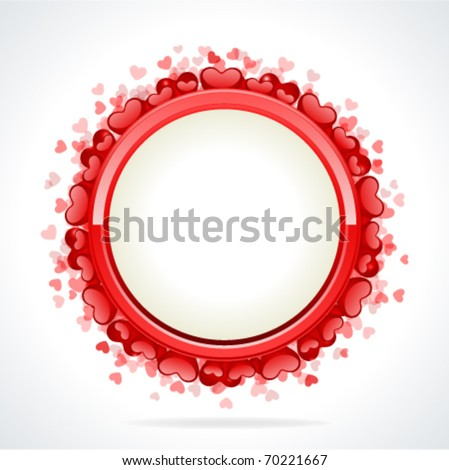 Valentineu0027s Day Frame Vector Background With Hearts