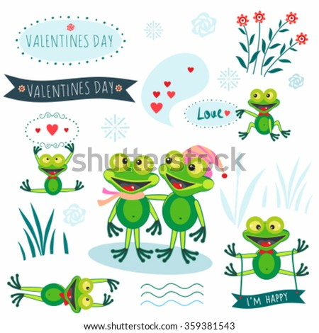 valentines day frogs stock vector royalty free 359381543 rh shutterstock com Frog Prince Vector The Crocodile