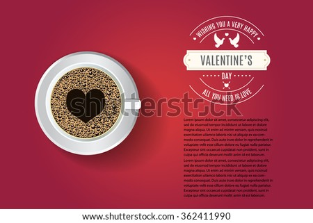 Valentines Day Greeting Card Banner Poster Stock Vector