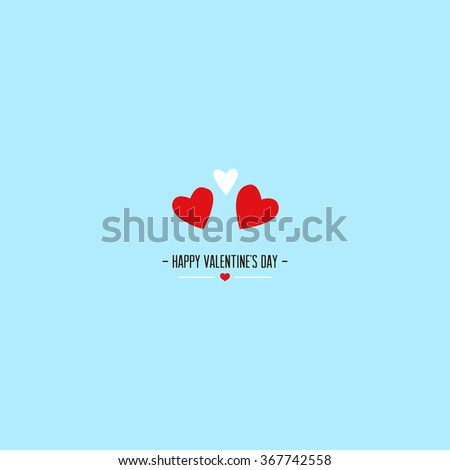 Valentine's day greeting card. Vector illustration - stock vector