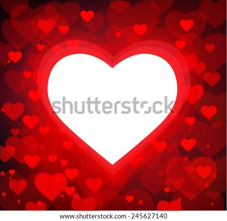 Valentine's Day Heart Background - stock vector