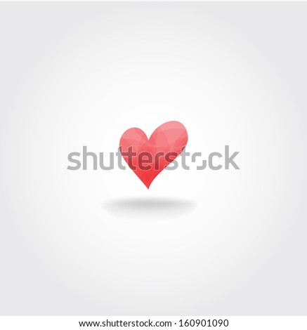 valentine's day Heart. Vector background  - stock vector