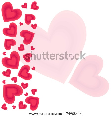 Valentine's day Hearts background.Eps10 - stock vector