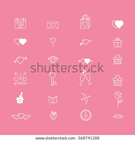 Valentine's day icon symbols. Template of Valentine's day poster, icon, banner, Valentine's day greeting card, Valentine's day print and web projects. I love you. 14 february - stock vector