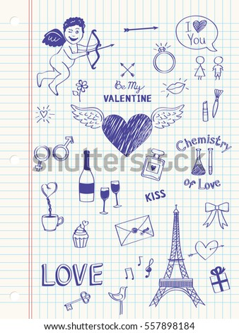Valentine's Day in doodle style