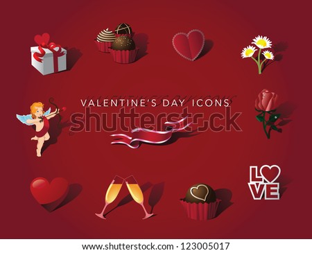 Valentine's Day Love Icon Symbol Set