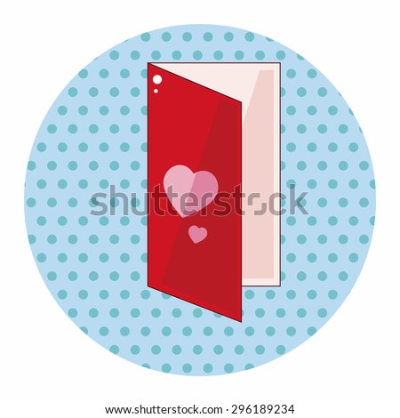 Valentine's day love letter flat icon elements background,eps10