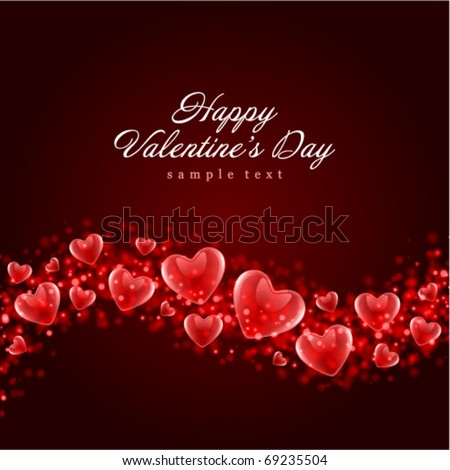 Valentine's day or Wedding vector background - stock vector