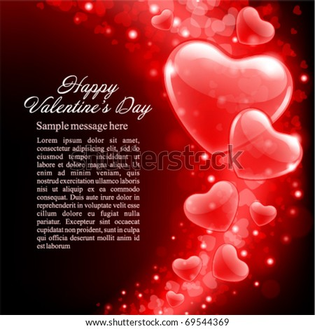Valentine's day or Wedding vector background