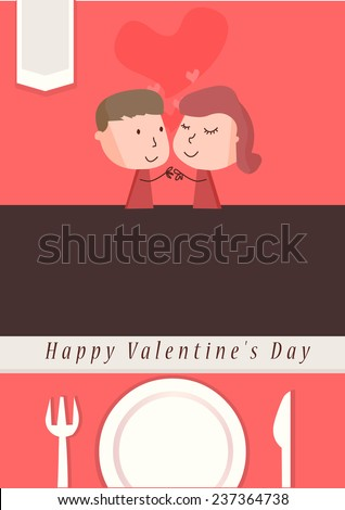 Valentine's day poster - stock vector
