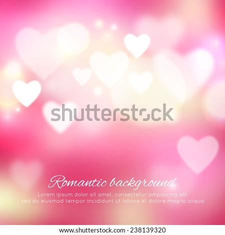 Valentine's day romantic background. Vector illustration - stock vector