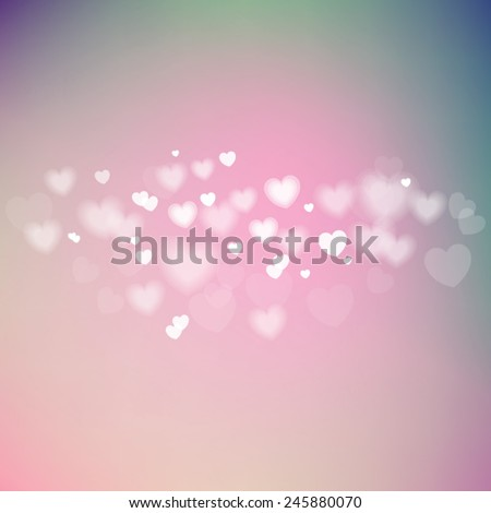 Valentine's day romantic background. Vector illustration - stock vector