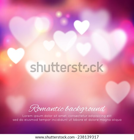 Valentine's day romantic background. Vector ilustration