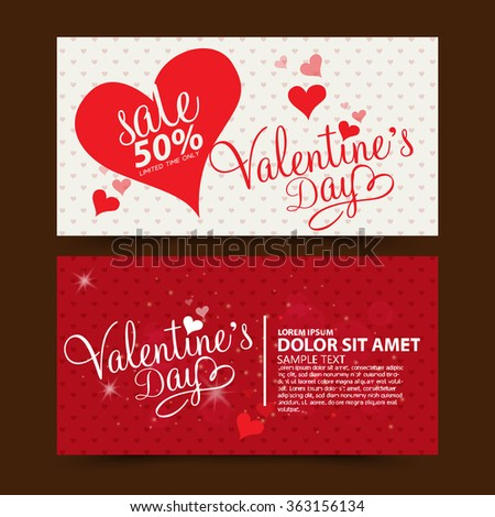 Valentine's day sale - stock vector