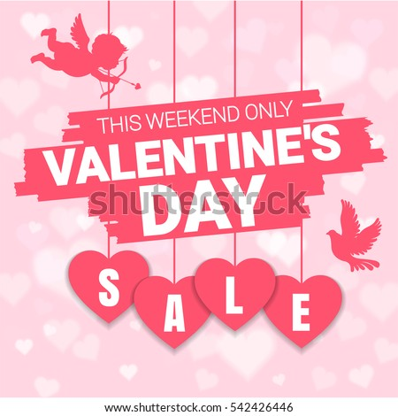 Valentines Day Sale Offer Banner Template Stock Vector 542426446 ...