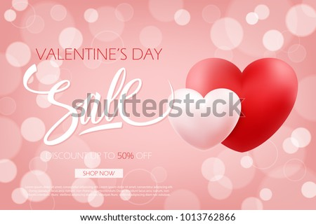 Valentines Day Sale Special Offer Banner Stock Vector 1013762866 ...