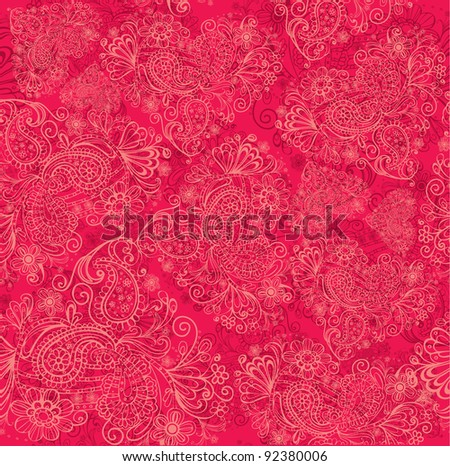 Valentine's day seamless background - stock vector