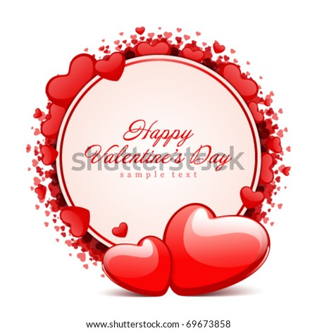 Valentine's day vector background with hearts - stock vector