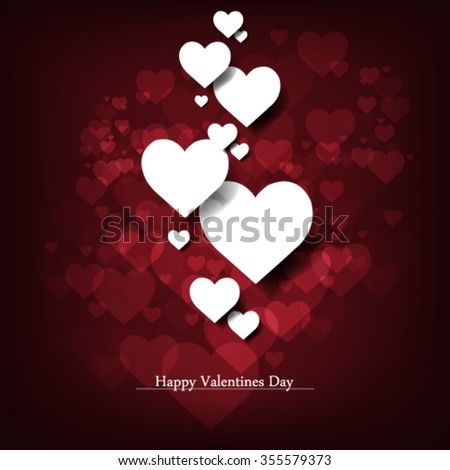 Valentine's Day Vector Design Background