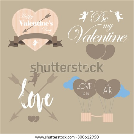 Valentine's day vector pack elements - stock vector