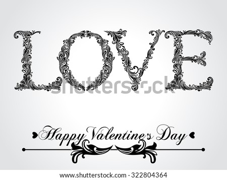 Valentine's Day vintage greeting card. Vector Version. - stock vector