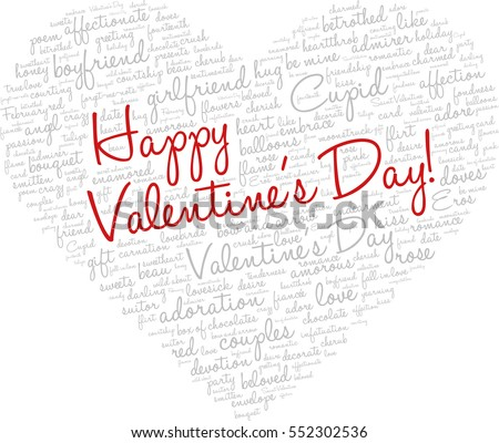 valentines day word cloud concept including stock vector 552302536, Ideas