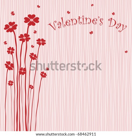 Valentine's Greeting Card - stock vector