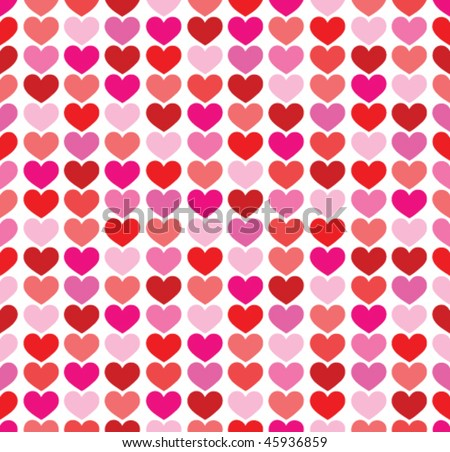 valentine seamless hearts pattern - stock vector