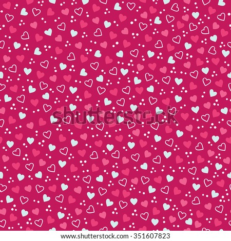Gift paper stock images royalty free images vectors shutterstock valentine seamless pattern with confetti and hearts perfect for holiday invitations st valentines negle Choice Image