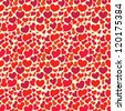 Valentine seamless wallpaper with big set of hearts - stock vector