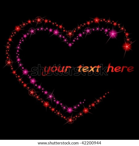 Valentine sparkle background (vector); JPG version also available - stock vector