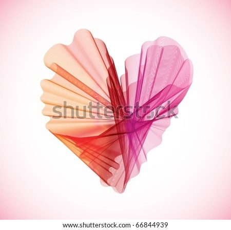 Valentines abstract heart