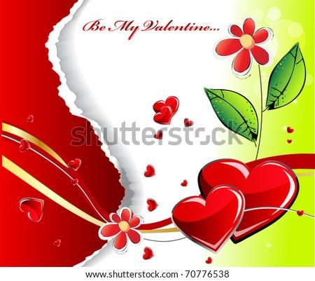 Valentines background - stock vector