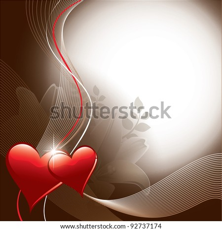 Valentines Background. Abstract Illustration. Eps10. - stock vector