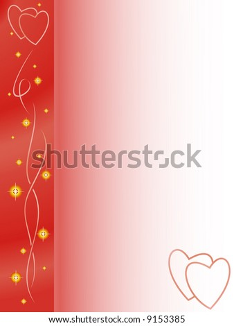 valentines background: Magic of love - stock vector