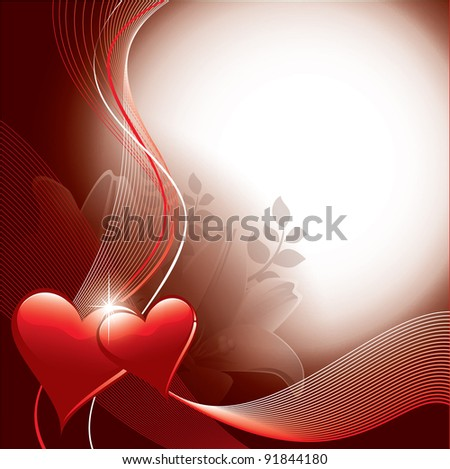 Valentines Background. Vector Design. - stock vector