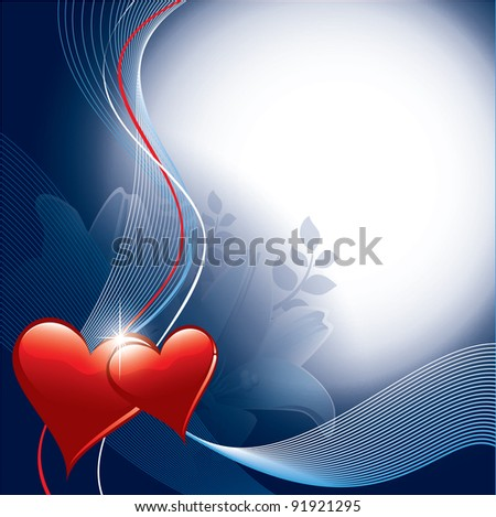 Valentines Background with hearts. Eps10 Format. - stock vector