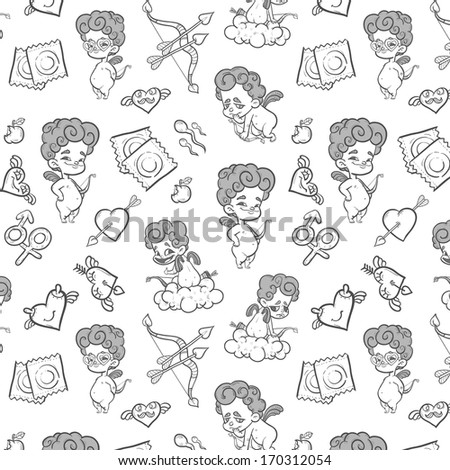 Valentines day background - stock vector