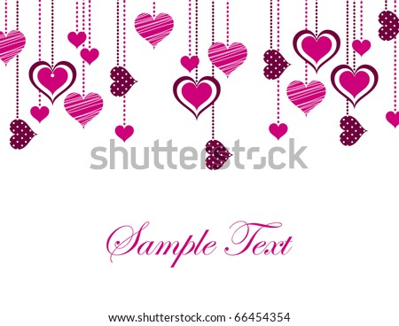 Valentines Day Background. eps10. - stock vector