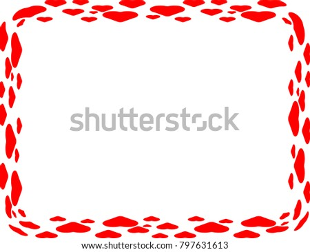 Valentines Day Background Rectangular Tiny Hearts Stock Vector
