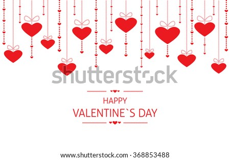 Valentines Day Background. The Valentines Day Background with ornaments of hearts. - stock vector
